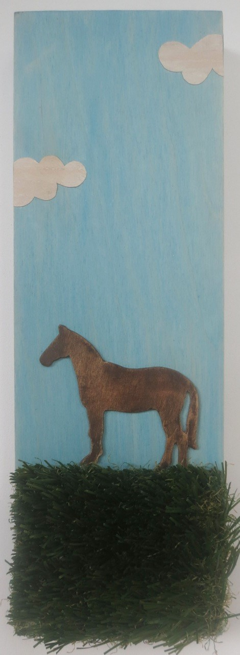 """Out to Pasture, 6x24"""""""